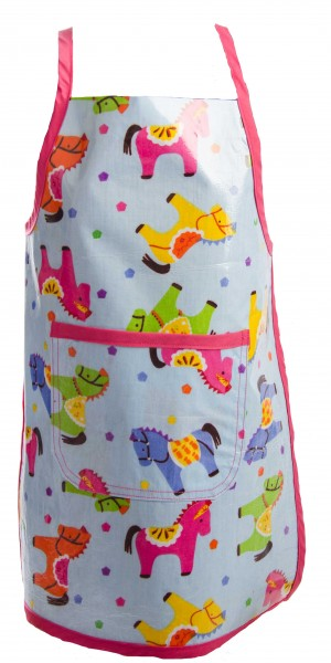 Apron Wipe Clean Kids Horse Pink