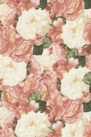Timeless Treasures Peach floral Jessica C3563