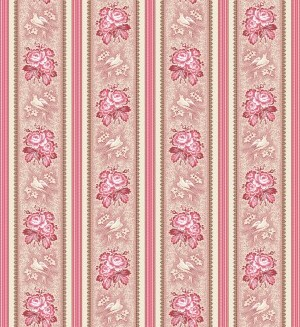 Fabric Makower Tender Romance floral border 2/7989R