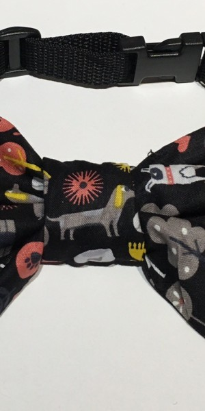 Doggy Bow Tie Black Small Dog