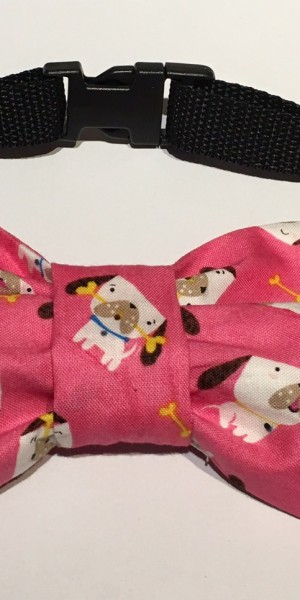 Doggy Bow Tie Pink cartoon dog