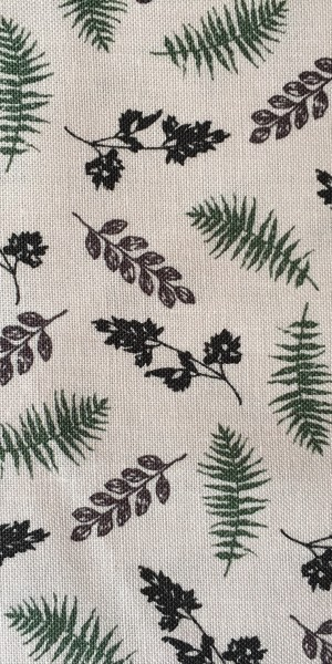 Fabric Freedom Highland White Fern and Thistle