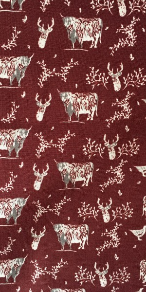 Fabric Freedom Highland Red Cow and Stag