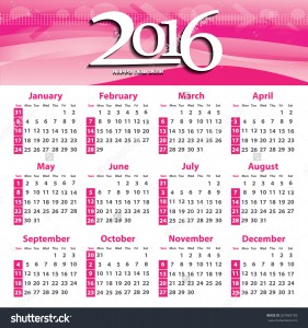 Diary Dates 2016 - events I will be attending