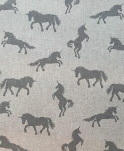 Fabric Chatham Glyn Linen Grey Unicorns