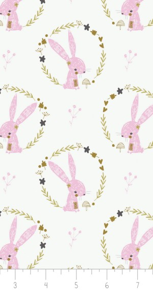 Fabric Camelot 2143703-2 Hello My Dear Rabbits
