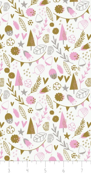 Fabric Camelot 2143705-5 Hello My Dear Trees