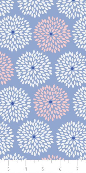Fabric Camelot 4142102-3 Jackie Blue Floral