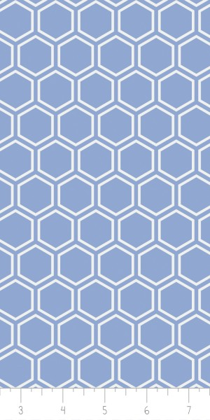 Fabric Camelot 4142105-3 Jackie Blue Hexagon