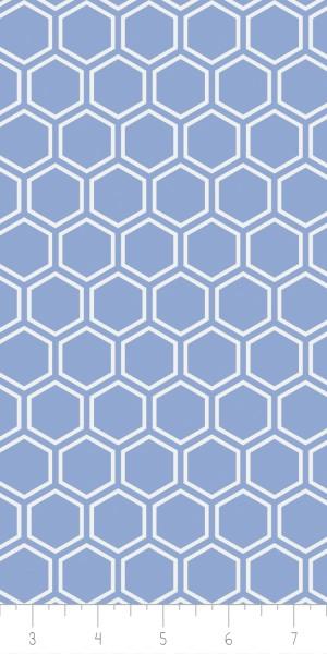 Fabric Camelot 4142105-3 Jackie Blue Hexagon