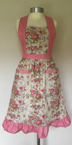 Apron Vintage Style Halter Neck Adult Arbor Rose