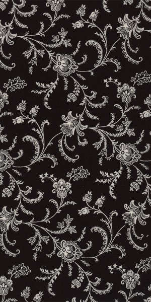 Fabric Timeless Treasures Viney floral Black C4782