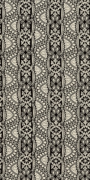 Fabric Timeless Treasures Black White Lace C4788