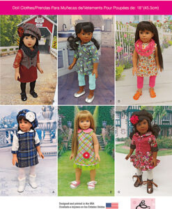 Simplicity Sewing Pattern 1089OS Dolls Clothes