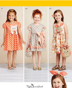 Simplicity Sewing Pattern 1208A Childs Dress US size age 3-8