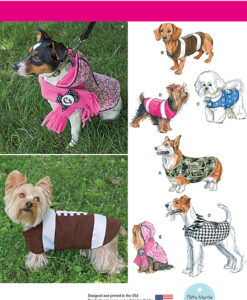Simplicity Sewing Pattern 1239A Dog Coats and accessories