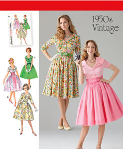 Simplicity Sewing Pattern 1459K5 1950's Dress US size 8-16