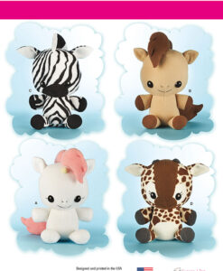Simplicity Sewing Pattern 8034OS Soft Toy Animals