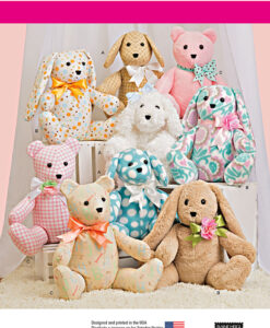 Simplicity Sewing Pattern 8044 Soft Toys