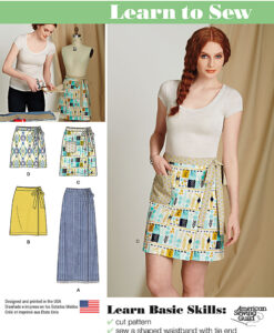 Simplicity Sewing Pattern 8133A Skirt US size 6-18