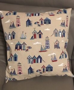 Cushion Individually Home Made Linen Beach Huts