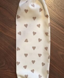 Carrier Bag Holders Clarke and Clarke Taupe Hearts