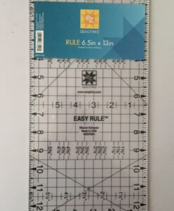 "EZ Quilting Template Acrylic Easy Rule 6.5"" x 13"""
