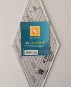 EZ Quilting Template Acrylic 45 degree Diamond shape