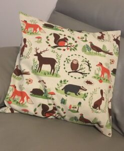 Cushion Individually Home Made Linen Woodland Animals