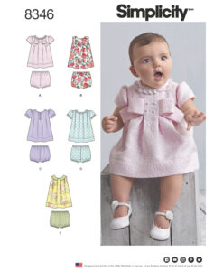 Simplicity Sewing Pattern 8346 A Baby Dress & pants