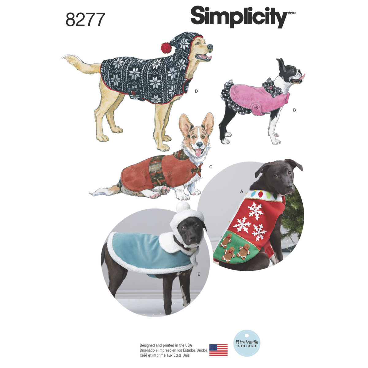 Simplicity Sewing Pattern 8277OS Dog Coat/Accessories