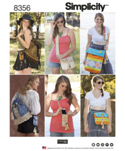 Simplicity Sewing Pattern 8356 Festival Bags