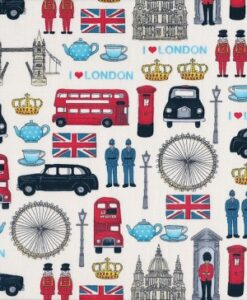 Makower UK London Icons 981/1 White