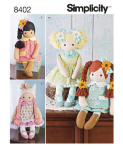 Simplicity Sewing Pattern 8402 OS Rag Doll 23""