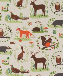 Fabric Chatham Glyn Linen Woodland