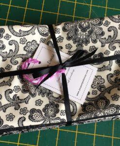 Bundles of 6 Quality Fabric Fat Quarters Black & White