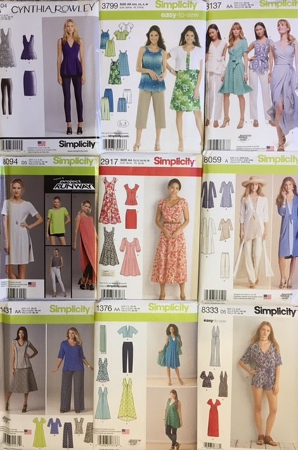 Simplicity Sewing Pattern Sale Half Price patterns from 19th July - 1st August 2017