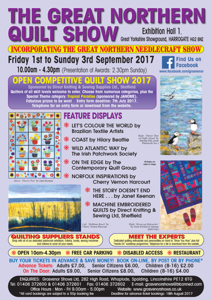 Northern Quilt Show, Harrogate. 1st - 3rd September 2017.