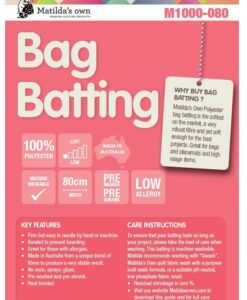 Matilda's Own Bag Batting M1000-080 100% Polyester