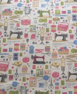 Fabric Chatham Glyn Small Sewing and Knitting Icons Linen