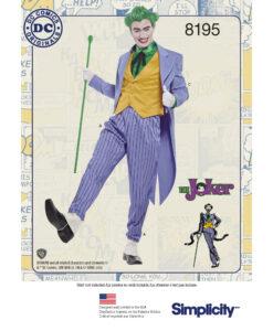 Sewing Pattern 8195 AA DC Comics Joker US size 38-44