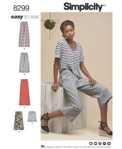 Sewing Pattern 8299 R5 Trouser And Skirt US size 14-22