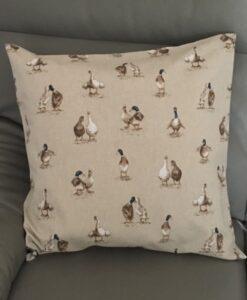 Cushion Individually Home Made Shabby Ducks