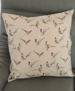Cushion Individually Home Made Linen Pheasant