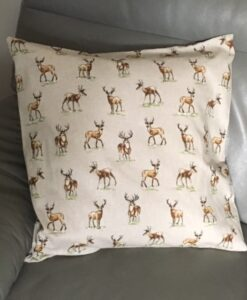 Cushion Individually Home Made Linen Stags