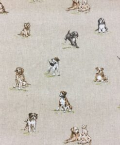 Fabric Chatham Glyn Linen Shabby Dogs