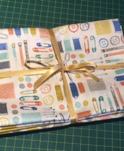 Bundles of 6 Quality Fabric Fat Quarters Hand Made