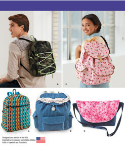 Simplicity Sewing Pattern 1388 OS Bags Accessories
