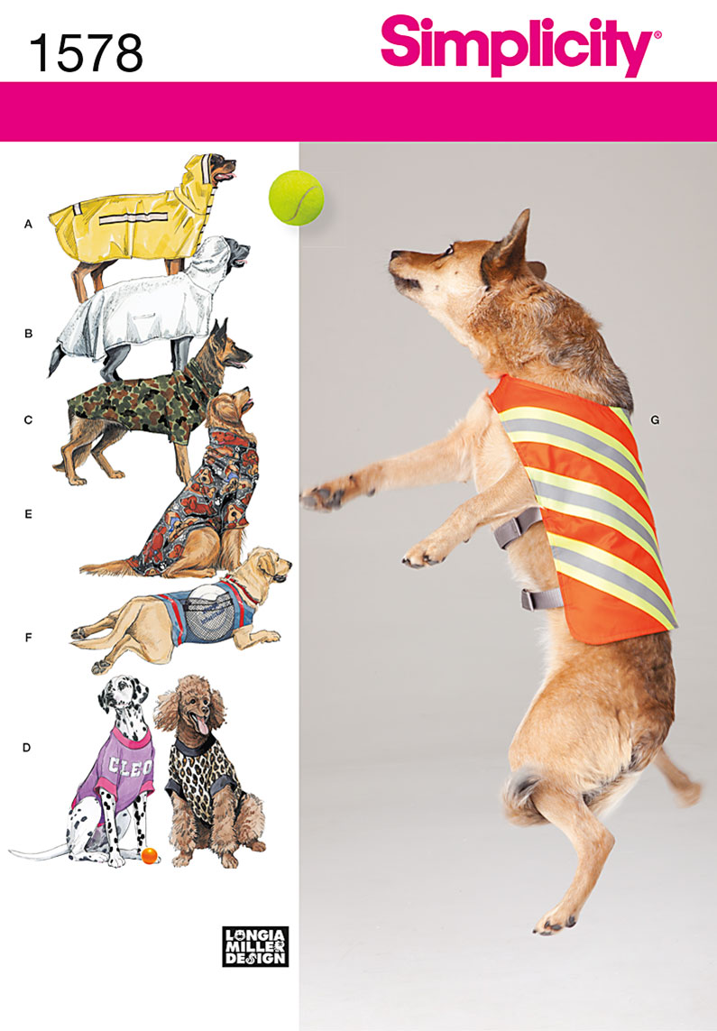 Simplicity Sewing Pattern 1578 Dog Coat