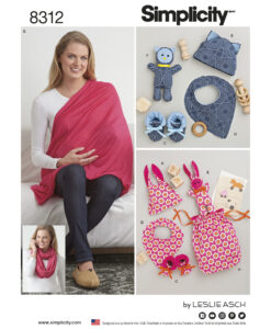 Simplicity Sewing Pattern 8312 OS Baby Bag Accessories